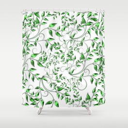 PALM LEAFY GREEN LEAVES Shower Curtain