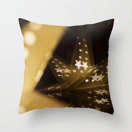 Xmas-Star And Mirror Image Throw Pillow