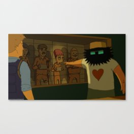WHO MURDERED MR. BODDY ? Canvas Print