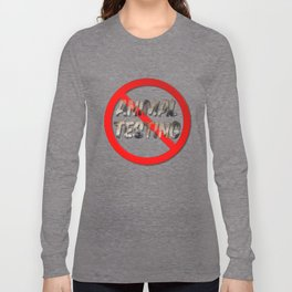 No Animal Testing Sign Long Sleeve T-shirt