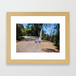 Couple on the way up Framed Art Print