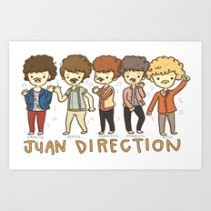 Juan Direction One Direction Cartoon Art Print