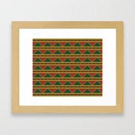 Africa-inspired pattern Framed Art Print
