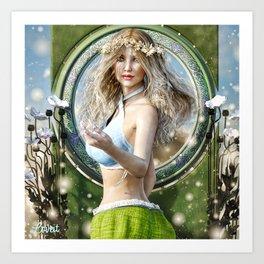 Fairy feilds Art Print