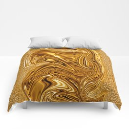Curvaceous 3 ......flowing liquid color....original art Comforters