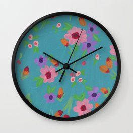 Spring in Blue Wall Clock