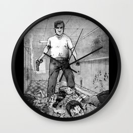 Dave: Zombie Hunter  triumphant Wall Clock