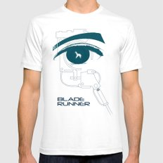 BLADE RUNNER (White - Voight Kampf Test Version) Mens Fitted Tee SMALL White