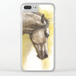 running horse Clear iPhone Case