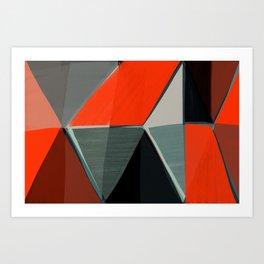 Red and Black Diamonds Art Print