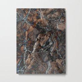 Chocolate Crack Metal Print