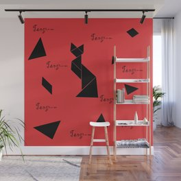 tangram collection Wall Mural