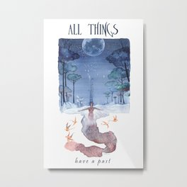 All things have a past - Angel - Watercolor Metal Print