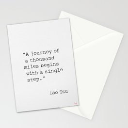 A journey of a thousand miles begins with a single step. Stationery Cards