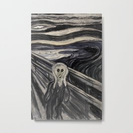 Fake Scream Metal Print