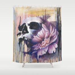 Skull and Flower Shower Curtain