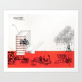 AutoCUNT 09 Art Print