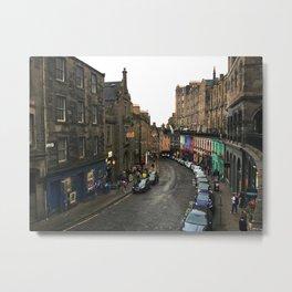 Victoria Street Edinburgh Metal Print