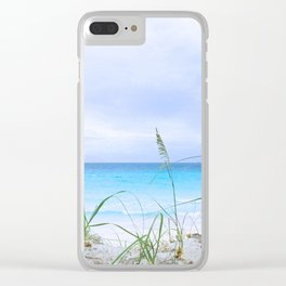 129. Grey sky and Blue water, Cuba Clear iPhone Case