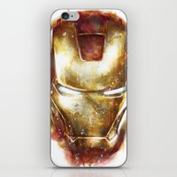 iron man iPhone & iPod Skins featuring Iron Man by beart24