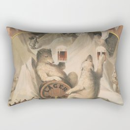 North Pole Fresh and Cold Lager Beer Rectangular Pillow