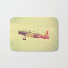 Retro Antique Fighter Plane // Airplanes Bath Mat