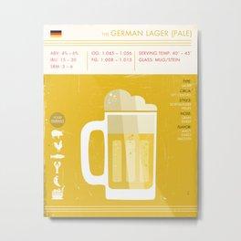 German Pale Lager Beer Art Print Metal Print