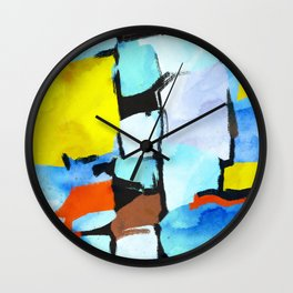 Washed thoughts Wall Clock