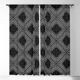 Black Bandana Diamond Patches Blackout Curtain