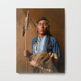 Tries His Knee - Crow American Indian Metal Print