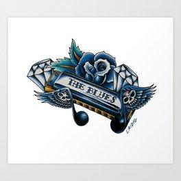 Blues Harp  Art Print