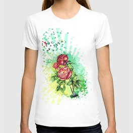 Convergency: Rose from a Lilypad T-shirt