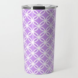 Lilac and white interlocking circles Travel Mug