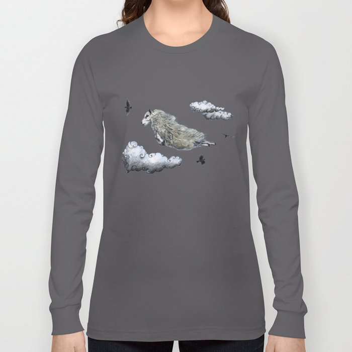 Flying sheep Long Sleeve T-shirt