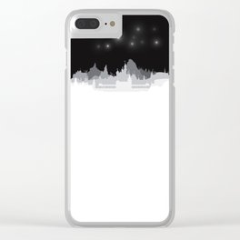 Fireworks at night. Clear iPhone Case