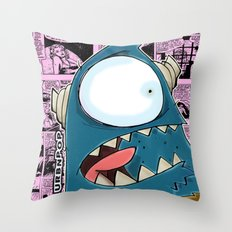 The Horror of it all BYRON  Throw Pillow