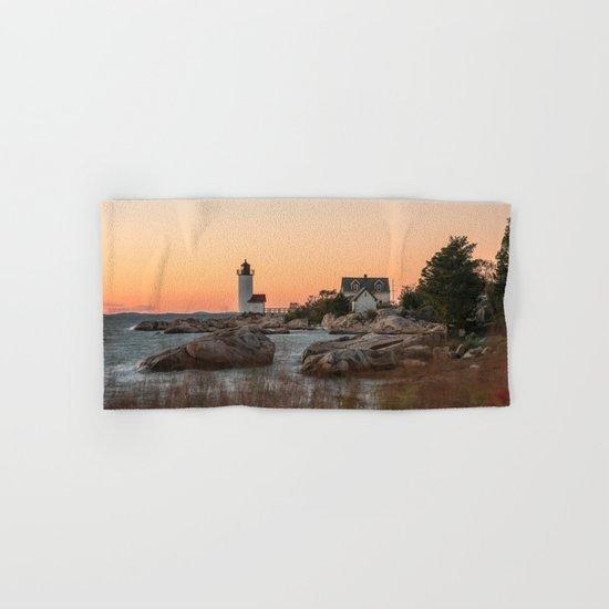Autumn Lighthouse at sunset Hand & Bath Towel