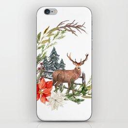 Woodland Deer Wreath iPhone Skin
