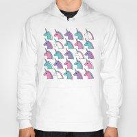 unicorns Hoodies featuring candy unicorns by Neringa Katt