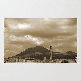 Mount Vesuvius looking down on Pompeii Rug