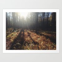 hiking Art Prints featuring Hiking by LISACYO