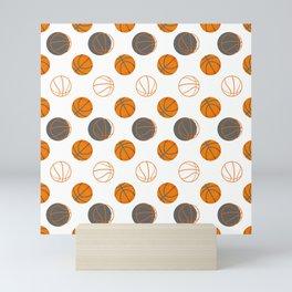 Basketball Pattern | Team Player Dunk Rebound Mini Art Print