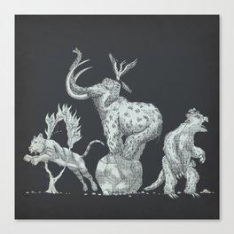 Prehistoric Circus Canvas Print