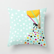 Keep spreading the love Throw Pillow