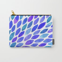 Watercolor brush strokes burst - blue and purple Carry-All Pouch