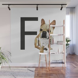 F is for French Bulldog Wall Mural