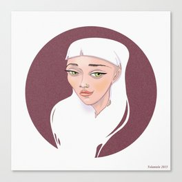 MOON Girl Canvas Print
