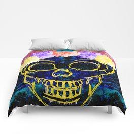 Floral Skull Print Comforters