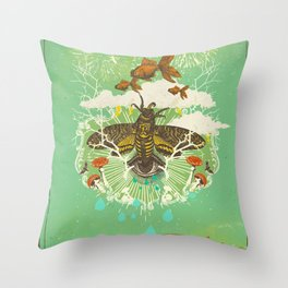 EVENING PSYCHEDELIA Throw Pillow