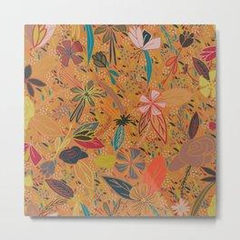 Flower Seeds - Orange Metal Print
